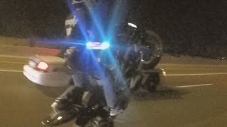 Police Chase MOTORCYCLE VS COPS Street Bike Riding WHEELIE Running From COP Car CHASES Biker 2016