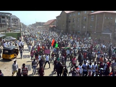 Thousands protest in Nigeria for pro-Biafra detainee