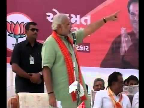 Narendra Modi delivers speech at Somnath Veraval starting the December phase of Gujarat campaign