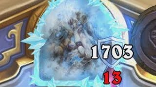 1700 Armor In One Turn RANKED [Hearthstone]