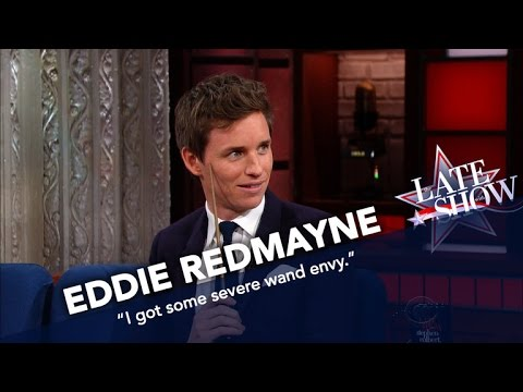 Eddie Redmayne Shows Off His Wand Skills