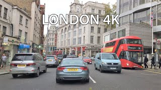 London 4k - Royal Kensington Morning Drive - Uk