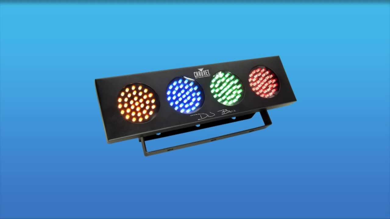 Chauvet Djbank Multicolour Led Colour Wash Light Bank Youtube Multi