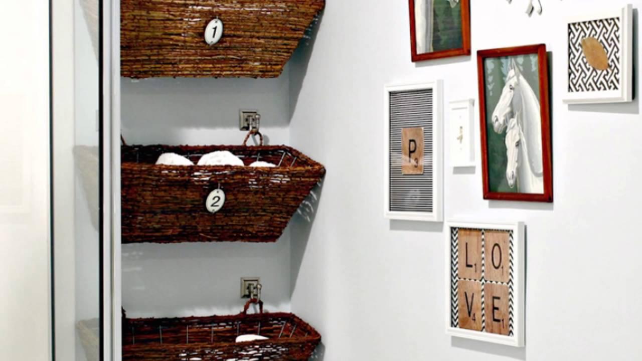 over the toilet linen storage - YouTube