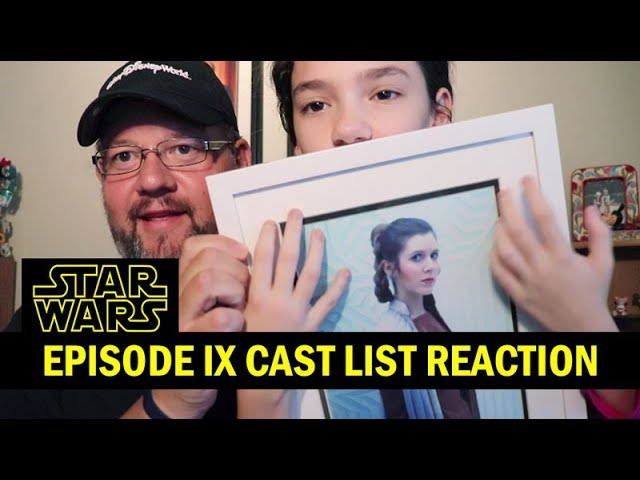 Star Wars Episode 9 New Cast List Reaction, Mark Hamill, Carrie Fisher