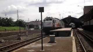 Indonesian Railway -Argolawu Train Departure from Yogyakarta Station