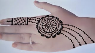 Beautiful Jewellery Mehndi Design For Hand ll Easy Mehendi design ll ...