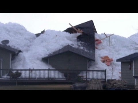 Waves of ice engulf homes