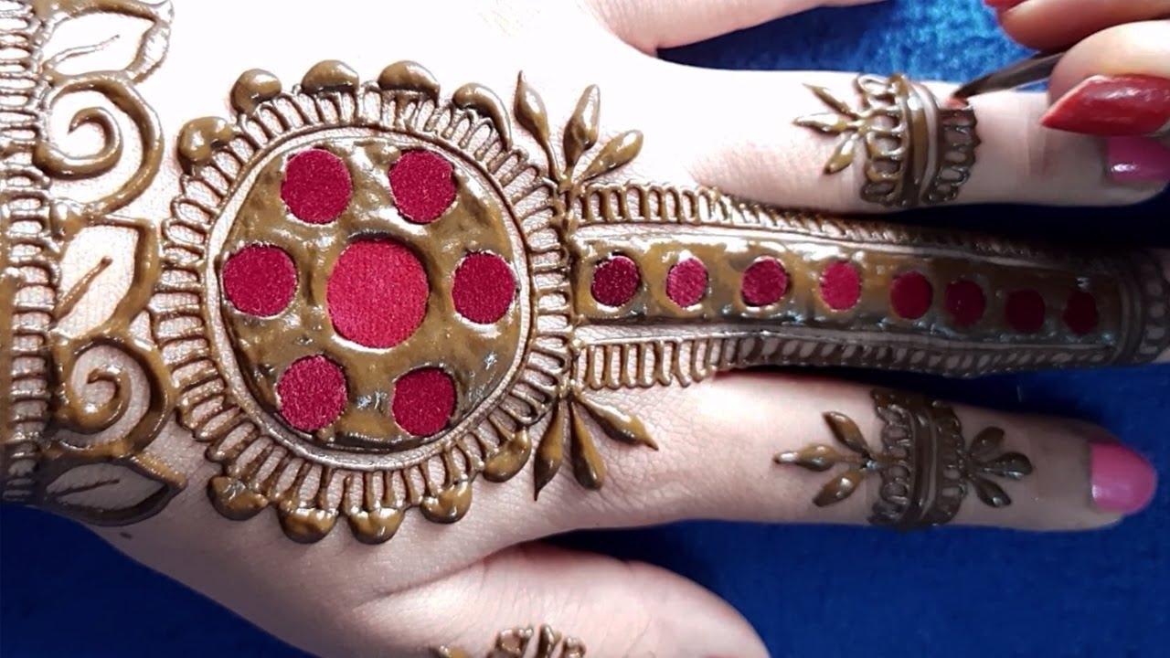 WoW! बिंदी की इस ट्रिक से लगाएं आसान मेहँदी डिज़ाइन   Easy Mehndi Design on Hands   Beginners Mehndi