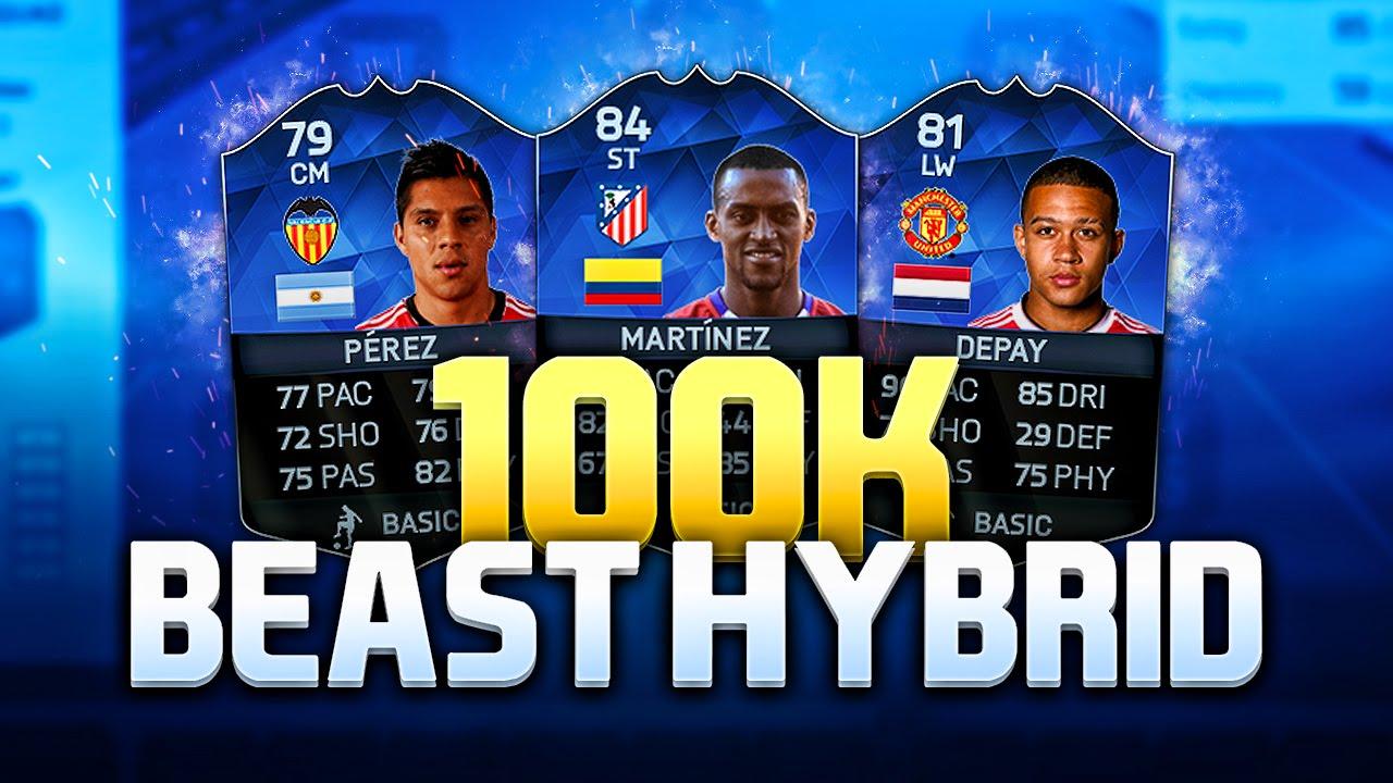 THE BEST TEAM IN FIFA 16 - FIFA 16 100K HYBRID SQUAD BUILDER !!