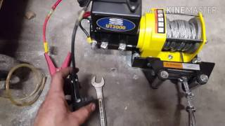 How to install a garage winch
