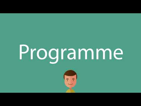 How to say Programme