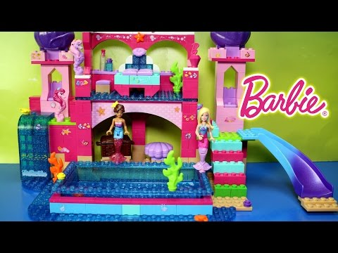 Thumbnail: Mega Bloks Barbie Build n Play Underwater Mermaid Barbie and Nikki