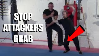 STOP AN ATTACKER'S GRAB AND PUNCH | Sifu Steven Burton