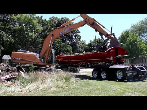 Side Dump Trailer   Excavator Load and Dump Demolition - Jet Company