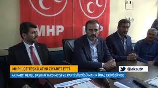 Ak Parti Sözcüsü Mahir Ünal Ekinözü'nde Esnafları Ziyaret Etti