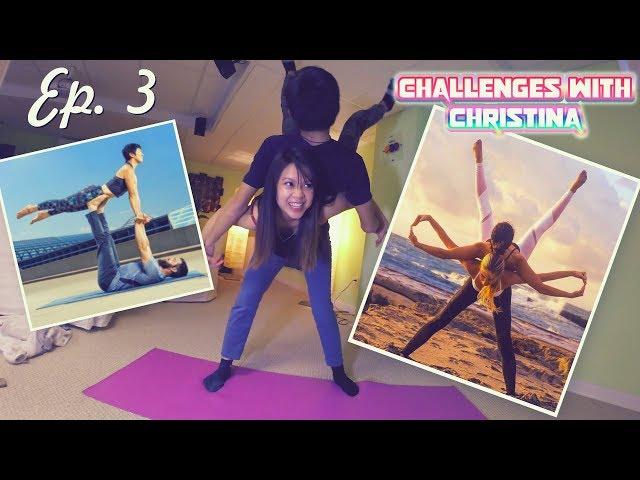 Challenges w/ Christina: INSANELY HARD Couples Yoga Challenge! (Ep. 3)