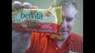 BelVita orange and cherry with 4 hours of steady energy.