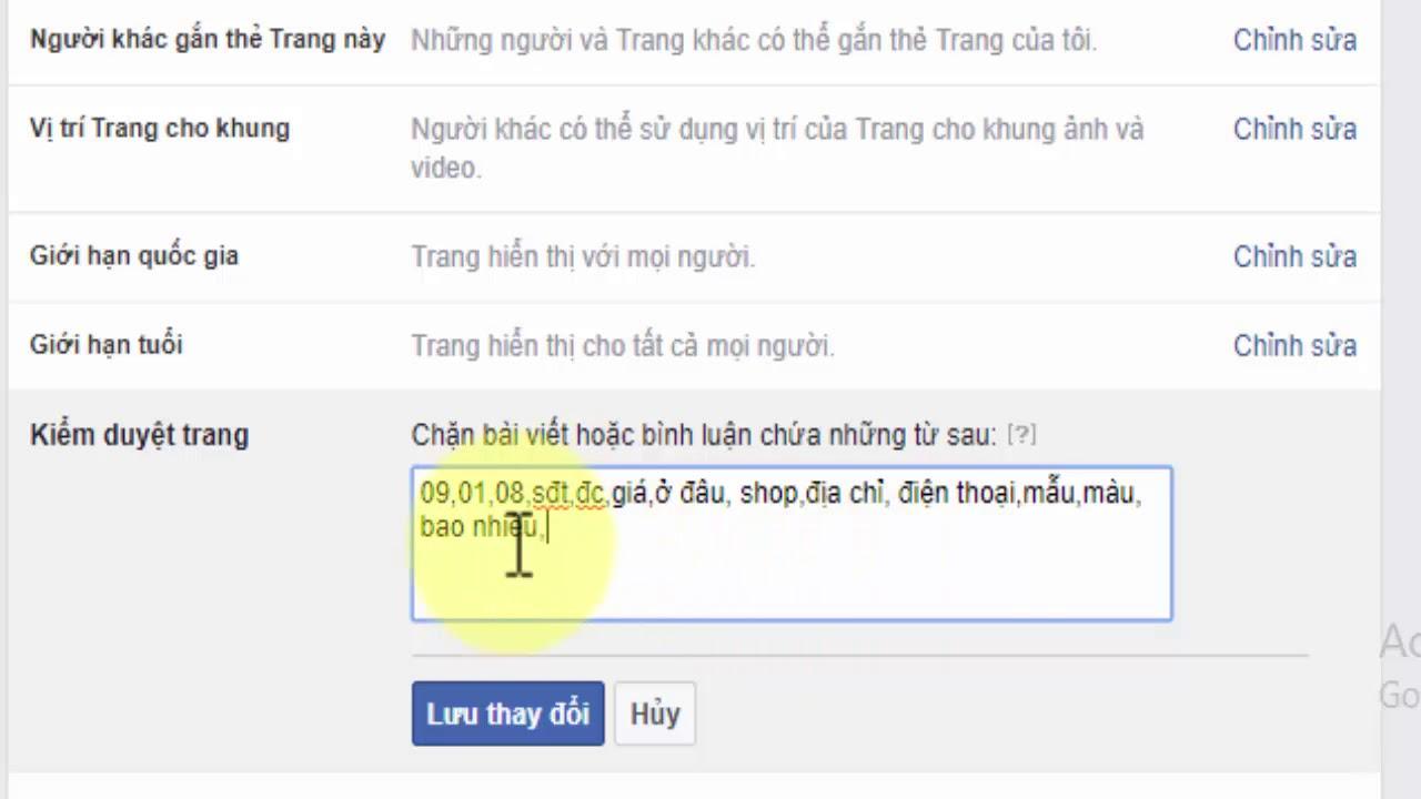Cách ẩn comment trên trang Fanpage: Hướng dân nhanh