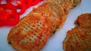 Рыбные котлеты в Вафельных коржах Рыбный фарш рецепт
