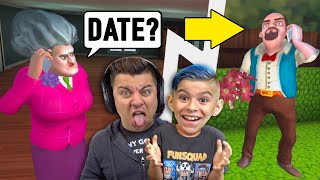 Miss T Has a Date and We are Going to Ruin it! SCARY TEACHER 3D Update (New Levels)