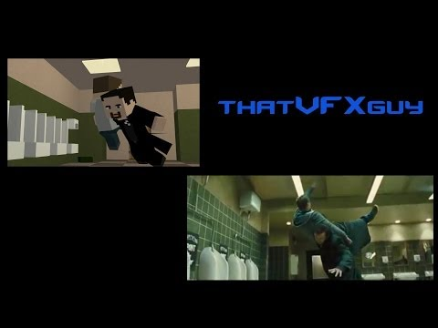 Compared with Original - The World's End Toilet Fight Scene