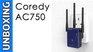 coredy ac750 mini wifi dual band range extender unboxing