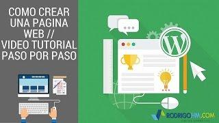 Como Crear una Pagina Web // Video Tutorial Paso Por Paso