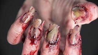 Zombie nails tutorial - SFX | Elle Levi