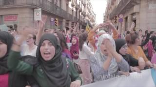 manifestacion pro liberación de detenidos en Rif, Marruecos