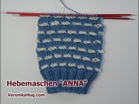 Socken stricken – Sockenmuster Hebemaschen ANNA – Veronika Hug