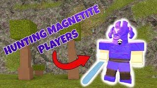 Hunting magnetite players | Booga Booga (ROBLOX)