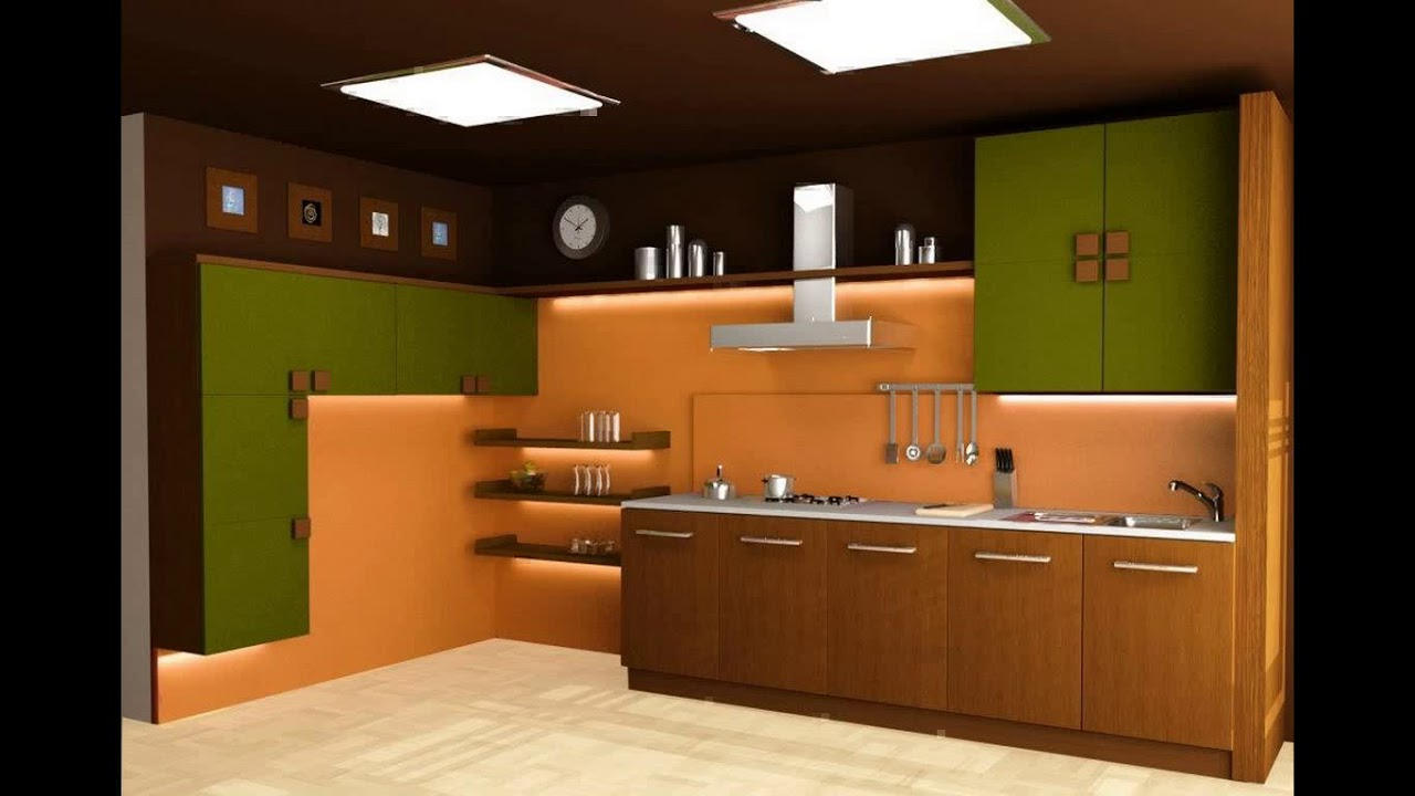 Indian style modular kitchen design youtube for Small kitchen design indian style