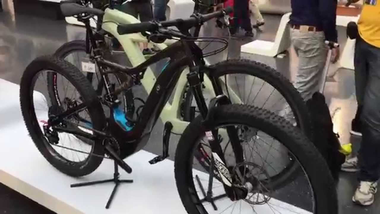 Specialized Turbo Electric Bike >> Specialized Turbo Levo Electric Mountain Bike at Eurobike - YouTube