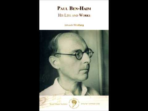 ETTEL SUSSMAN sings Paul Ben-Haim's Three songs without words, LIVE