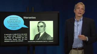 Contract Law 60 IV Warranties and Representations of Fact