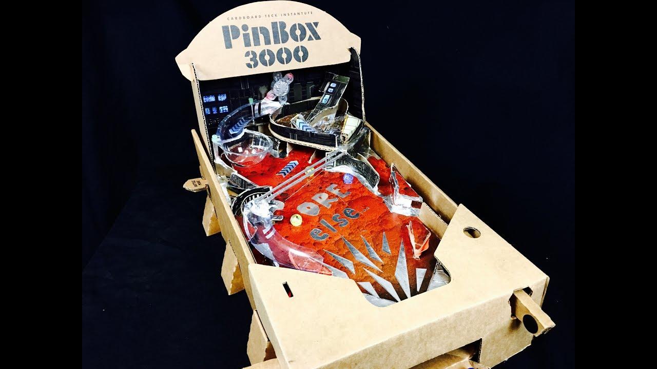 PinBox 3000 DIY Cardboard Pinball Machine