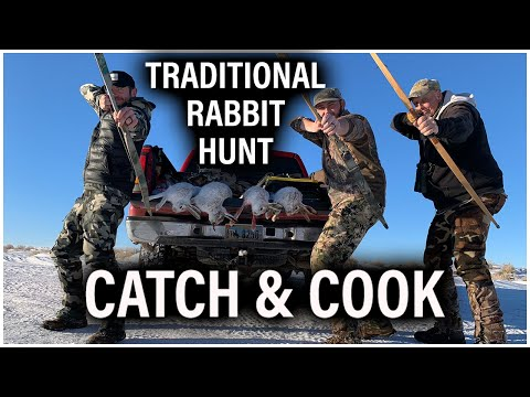Traditional Rabbit Hunt With Recurve Bows || Catch And Cook
