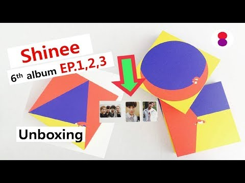 샤이니 Unboxing Shinee 6th Full Album EP 1,2,3 All Versions (the Story Of Light) 6집 앨범  シャイニー