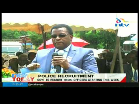 Govt to recruit 10,000 police officers starting this week