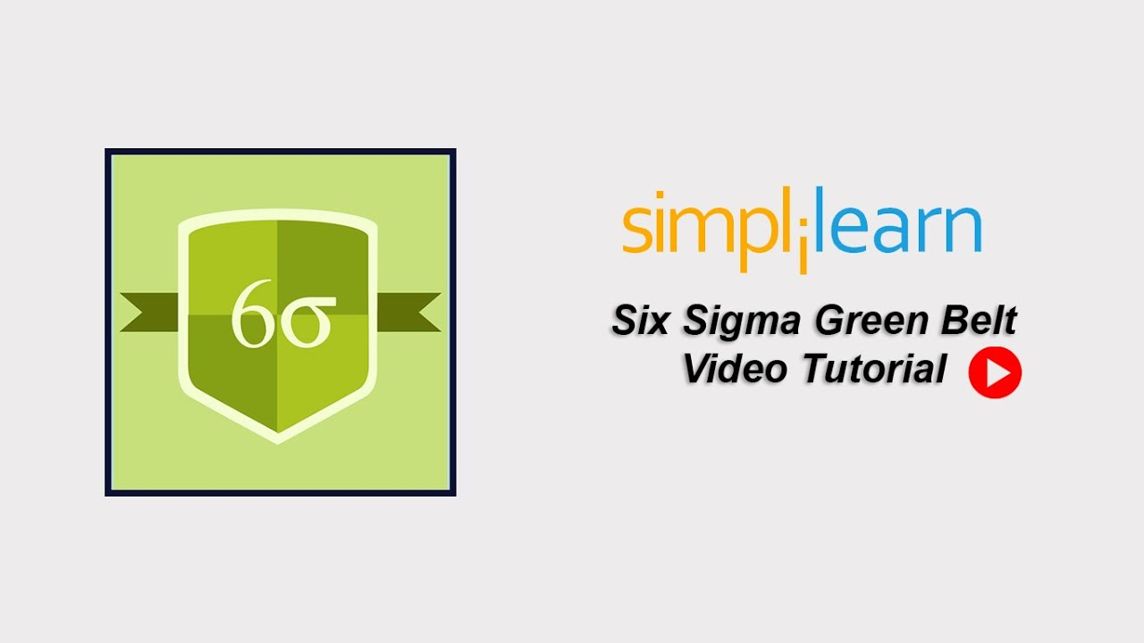 Free Six Sigma Tutorial Six Sigma Green Belt Training Part 1 Youtube