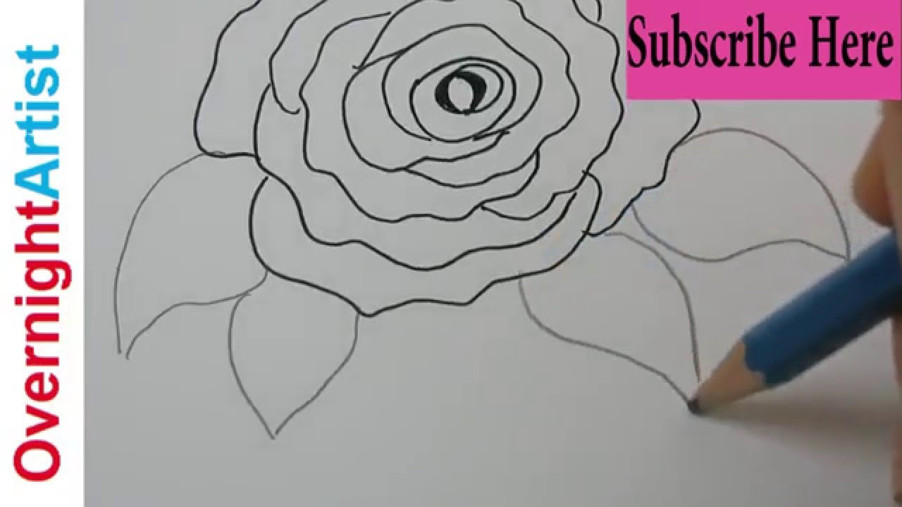 Kids art art for kids easy rose drawing