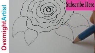 Kids Art - Art For Kids - Easy Rose Drawing