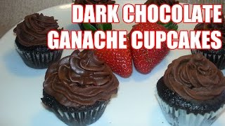 Tony Rican's Dark Chocolate Cupcakes W/ Chocolate Ganache Frosting