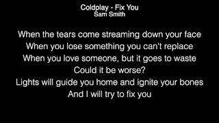 Download Mp3 Sam Smith - Fix You Live Lyrics   Coldplay