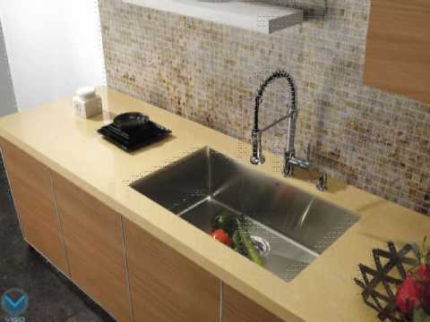 vigo-vg02001ch-commerical-kitchen-faucet-with-spring---product-demonstartion