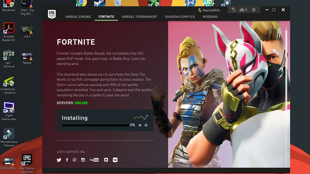 fortnite real download size for pc with download link - fortnite voice changer download