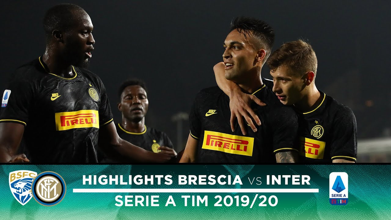 Brescia 1 2 Inter Highlights Lautaro And Lukaku Score