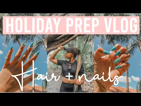 Holiday Prep:Getting Hair & Nails Done for Vacation |Spend the Weekend with Me VLOG 2 | Natalie Wera