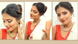 Durga Puja Special Bengali makeup tutorial / How to do festive Bengali makeup
